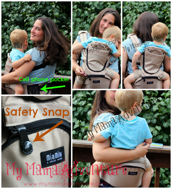 So many babywearing options and features with the HIPSTER- My Mama Adventure