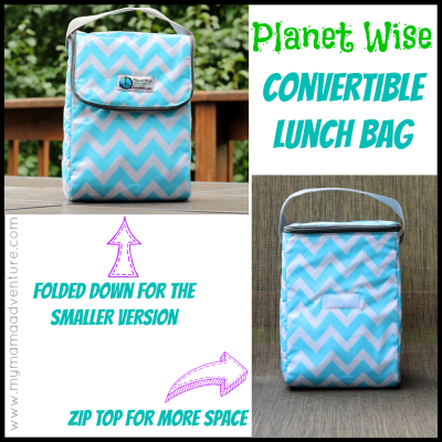 Planet Wise Convertible Lunch Bag - My Mama Adventure
