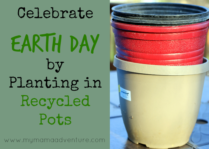 Celebrate Earth Day by Planting in Recycled Pots #StonyfieldBlogger