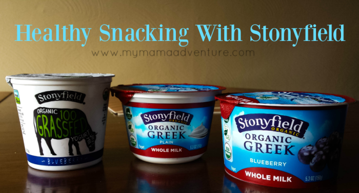 Healthy Snacking With Stonyfield